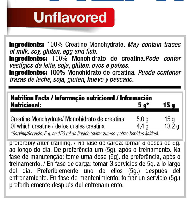Creatine Monohydrate - a Dietary Supplement