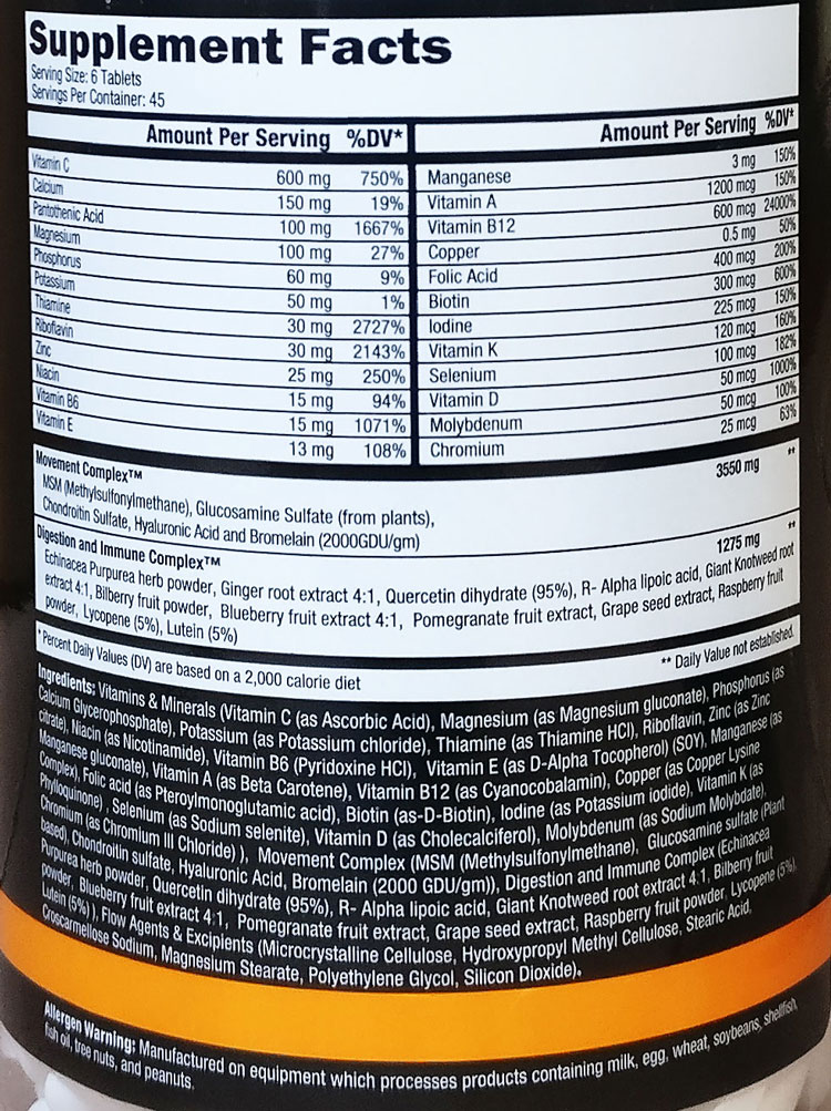 Orange Triad 270 tabs (Controlled Labs